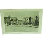 Real Photo Postcard Entrance To US Navy Training Camp Great Lakes Illinois 1947