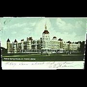 1907 Postcard Poland Spring House South Poland Maine