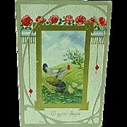 1912 Embossed Easter Postcard Nash Card Easter Series No. 17