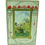 1912 Embossed Easter Postcard Nash Card Easter Series No. 17