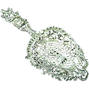 Antique Ornate Continental Silver Tea Or Bon Bon Scoop or Spoon