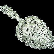 Antique Ornate Continental Silver Tea Or Bon Bon Scoop or Spoon