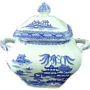 Ashworth Brothers Real Old Canton Covered Sugar Dish