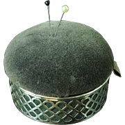Antique Sterling Silver Sewing Box With Pin Cushion Lid By Herbst & Wassall 1915
