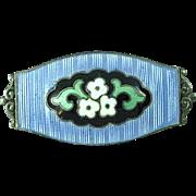 Antique Marius Hammer 930 Silver Enamel Norway Arts & Crafts Brooch Pin Ca 1900