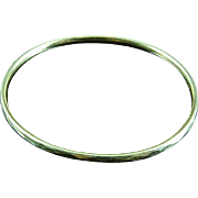 Faceted 10k Yellow Gold Bangle Bracelet
