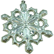 Vintage 1979 Gorham Sterling Silver Christmas Snowflake Ornament Pendant