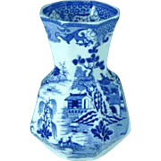 Antique Masons Ironstone Blue Willow Vase Circa 1820