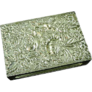 S. Kirk & Son Repousse Match Safe Match Box Cover Sterling Silver