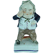 Antique Staffordshire Figurine Of A Stout English Gentleman