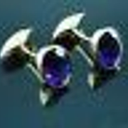 Luxurious Pair 18k Yellow Gold Oval Cut Amethyst Cufflinks 9 Carat Total Weight
