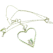 10k Black Hills Gold Necklace & Heart Pendant