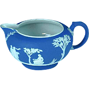 19th Century Dark Blue Wedgwood Jasperware Creamer