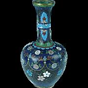Antique Japanese Meiji Period Cloisonne Vase