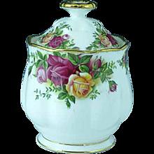 Vintage Royal Albert Old Country Roses Bone China Marmalade Jar