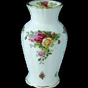 "Vintage Royal Albert Old Country Roses Bone China 7"" Montrose Vase"