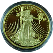 1933 Proof Gold Double Eagle Archival Collection Medal Cu Plus 24K Gold