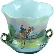 Antique Royal Bayreuth Toothpick Holder Fox Hunters On Horses Ca 1910