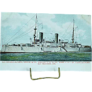 1904 Undivided Back Postcard USS Battleship Olympia Spanish American War Ship