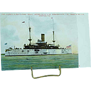 1904 Undivided Back Postcard USS Battleship Texas Spanish American War Ship