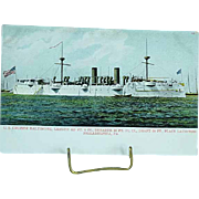 1904 Undivided Back Postcard USS Cruiser Baltimore Built in the Spanish American War Ship