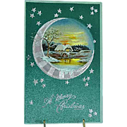1907 Embossed PFB Christmas Postcard Moonlight No. 122/47