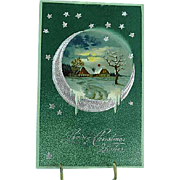 1907 Embossed PFB Christmas Postcard Moonlight Series 6396