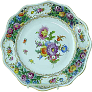 "Dresden Carl Thieme Hand Painted Floral Reticulated 10 1/4"" Cabinet Plate #3"