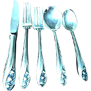 Gorham Lily of the Valley Sterling Silver 5 Piece Place Setting #1