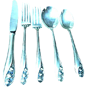 Gorham Lily of the Valley Sterling Silver 5 Piece Place Setting #4