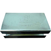 Silver Plated Match Box Holder Qua Fecimus Ipsi Fulton Family Motto SCOTLAND