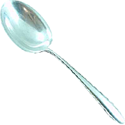 Antique Towle Sterling Silver Silver Flutes Solid Smooth Casserole Spoon No Mono