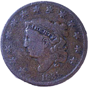 1831 1c Coronet or Matron Head Large Cent Estate Find