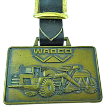 Vintage Wabco Heavy Equipment Advertising Watch Fob Shovels & Loaders