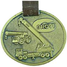 Vintage Grove Heavy Equipment Advertising Watch Fob Shovels & Loaders