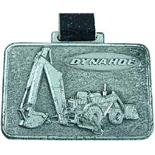 Vintage Dynahoe Heavy Equipment Advertising Watch Fob Shovels & Loaders
