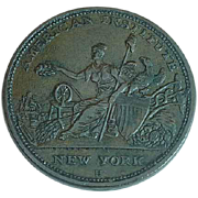 1833 American Institute New York Robinson's Jones & Co. Hard Time Token