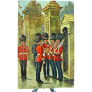1908 Postcard Raphael Tuck Oilette The Coldstream Guard #3546 Signed Harry Payne