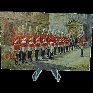 1908 Postcard Raphael Tuck Oilette The 1st Life Guards #3546 Signed Harry Payne