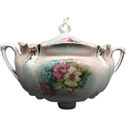 Victorian R S Prussia Floral Cracker Jar Circa 1890