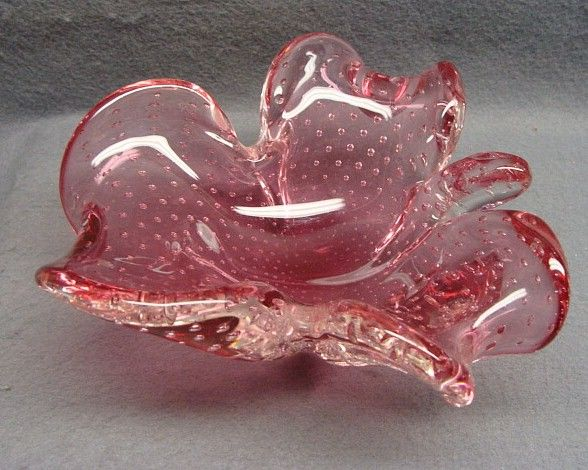 Vintage Murano Italian Art Glass Dish Bowl