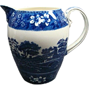 "7 1/2"" Copeland Spode Blue Tower Water Pitcher"