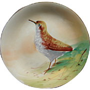 Antique B & H Blakeman & Henderson Limoges Game Bird Cabinet Plate Signed Max