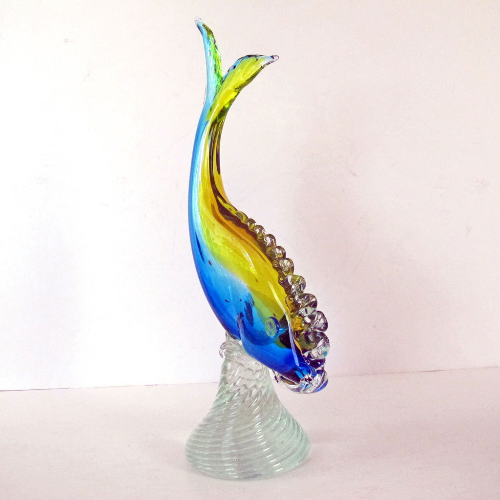 Murano glass fish mid century modern sommerso barbini for Murano glass fish
