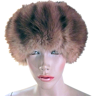 Vintage Russian Red Sable Hat