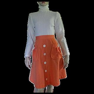 Vintage 1960's Alfreda Dress MOD Double Knit