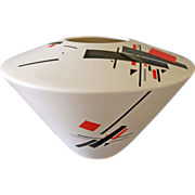 French Art Pottery Vase Mid Century Modern Atomic Age Ceramic France