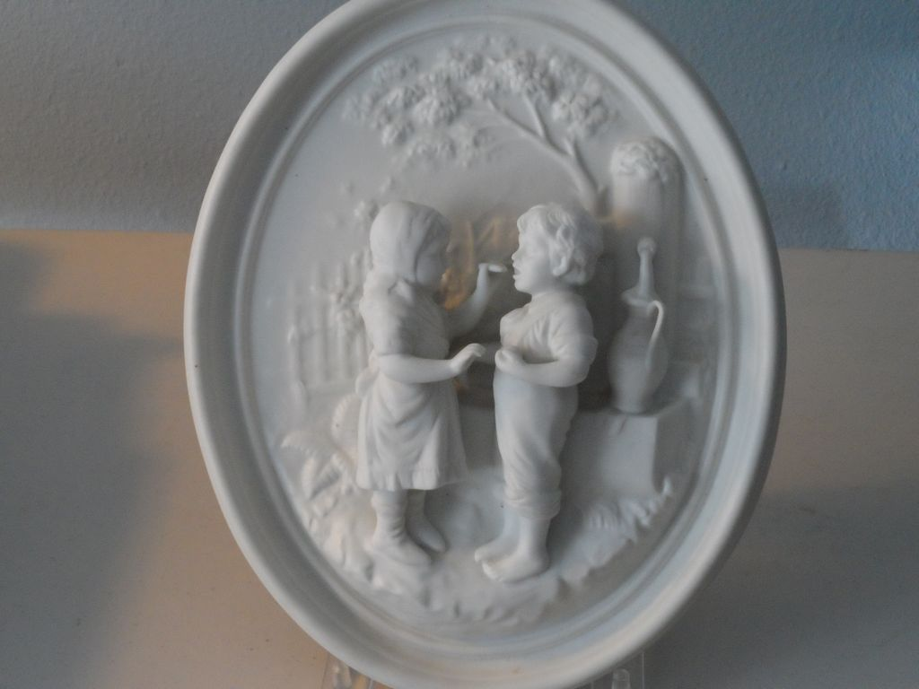 Antique Bisque with Figures