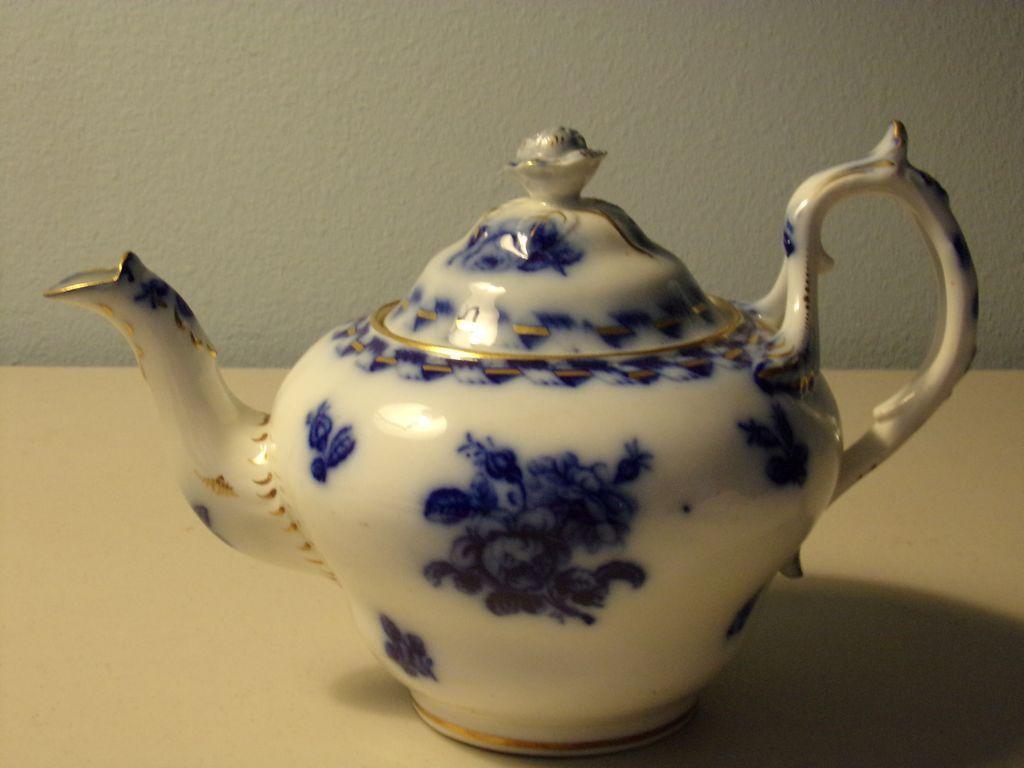 Flow Blue Teapot - England