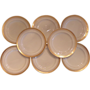 Tiffany Gold Rim Plates